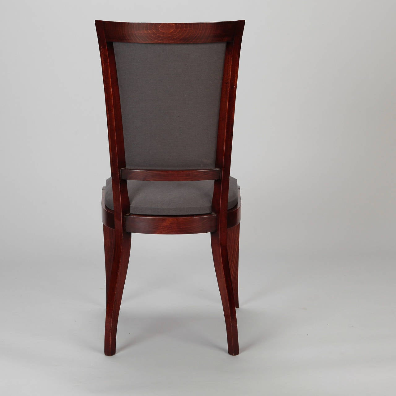 art deco kitchen chairs slipcover wing chair set of six french dining at 1stdibs