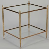 Maison Bagues Brass and Glass Table at 1stdibs