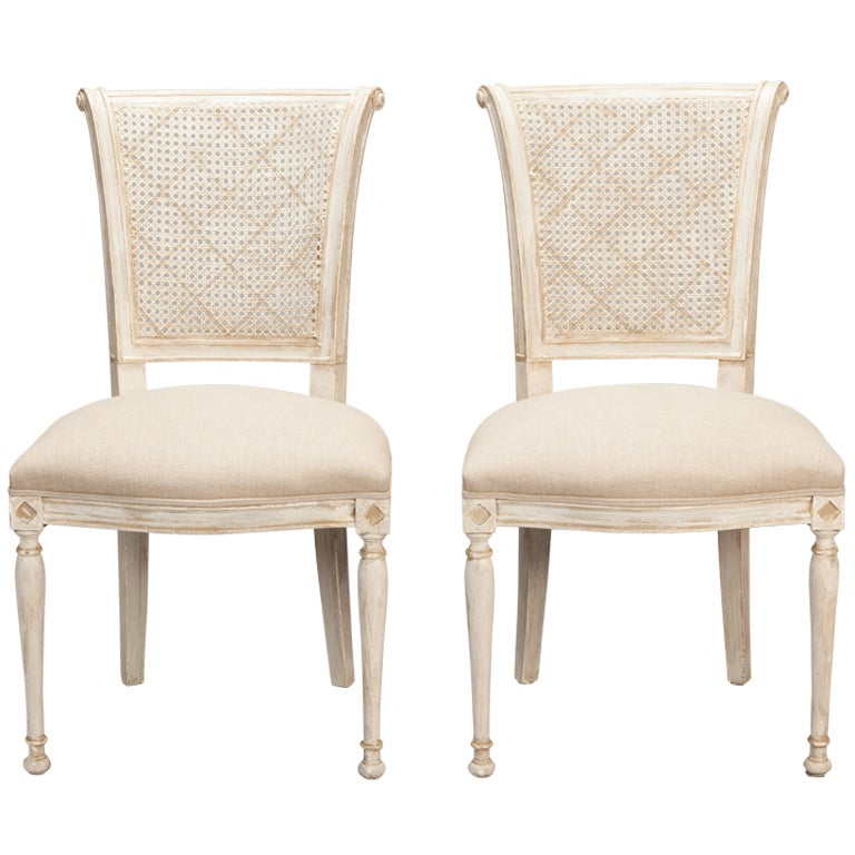 antique white dining chairs chippendale chair set of 12 french cane back at 1stdibs for sale
