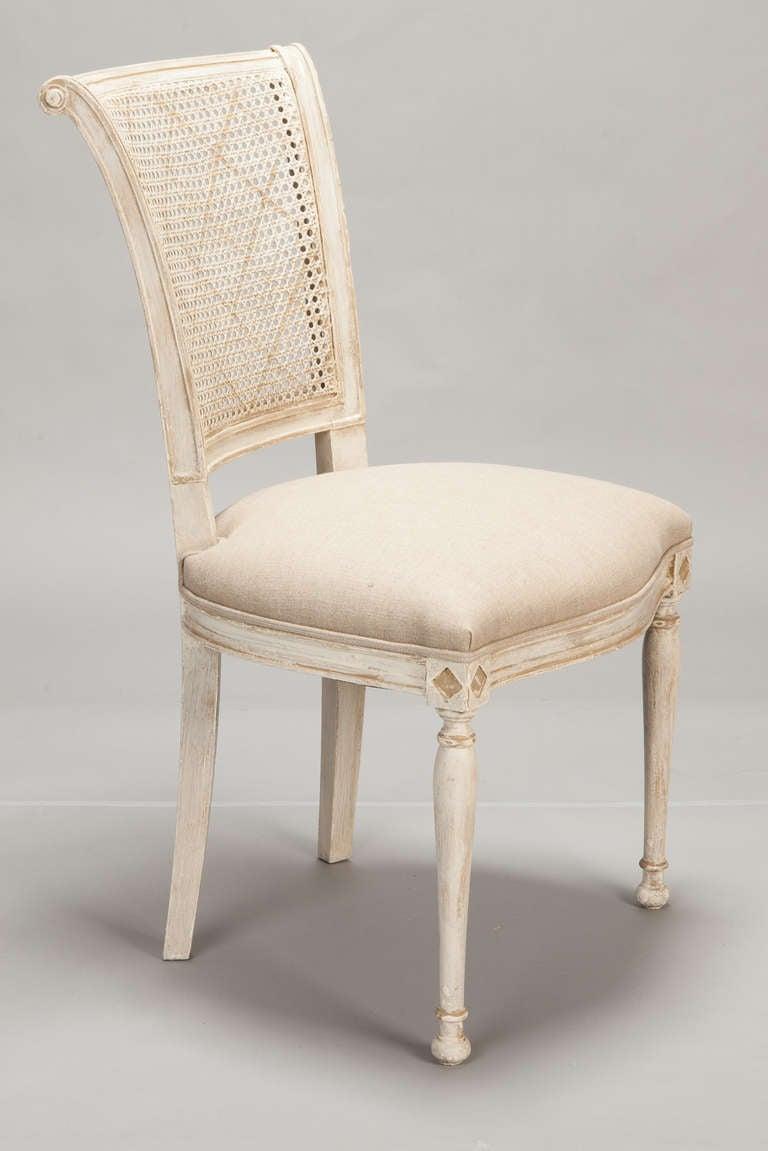 mid century modern cane barrel chairs black velvet dining set of 12 french back antique white at 1stdibs
