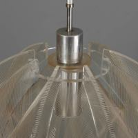 Mid Century Hanging, Lucite String Light Fixture at 1stdibs