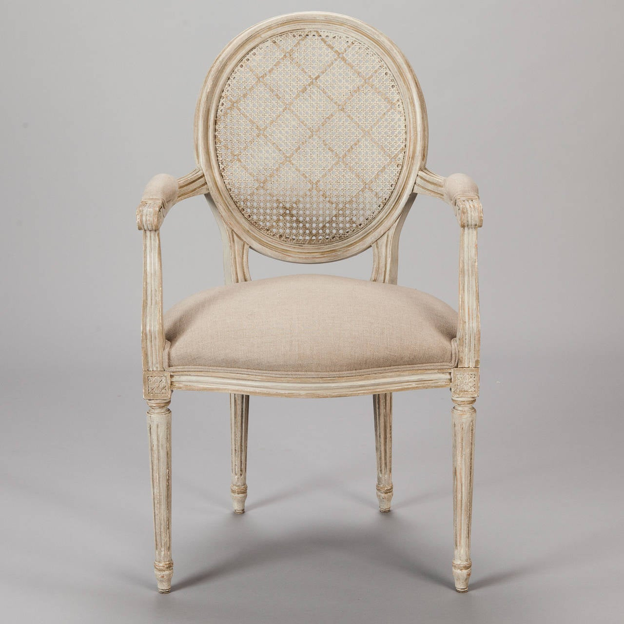 french cane back dining chairs floor chair with support set of twelve painted and caned