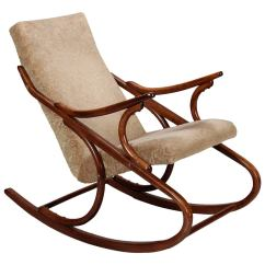Midcentury Rocking Chair Dining Cap Covers Czech Ton Bent Wood At 1stdibs