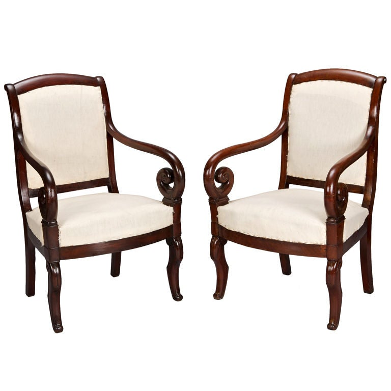 hickory chair louis xvi rocking leather seat pair philiipe straight back arm chairs at 1stdibs
