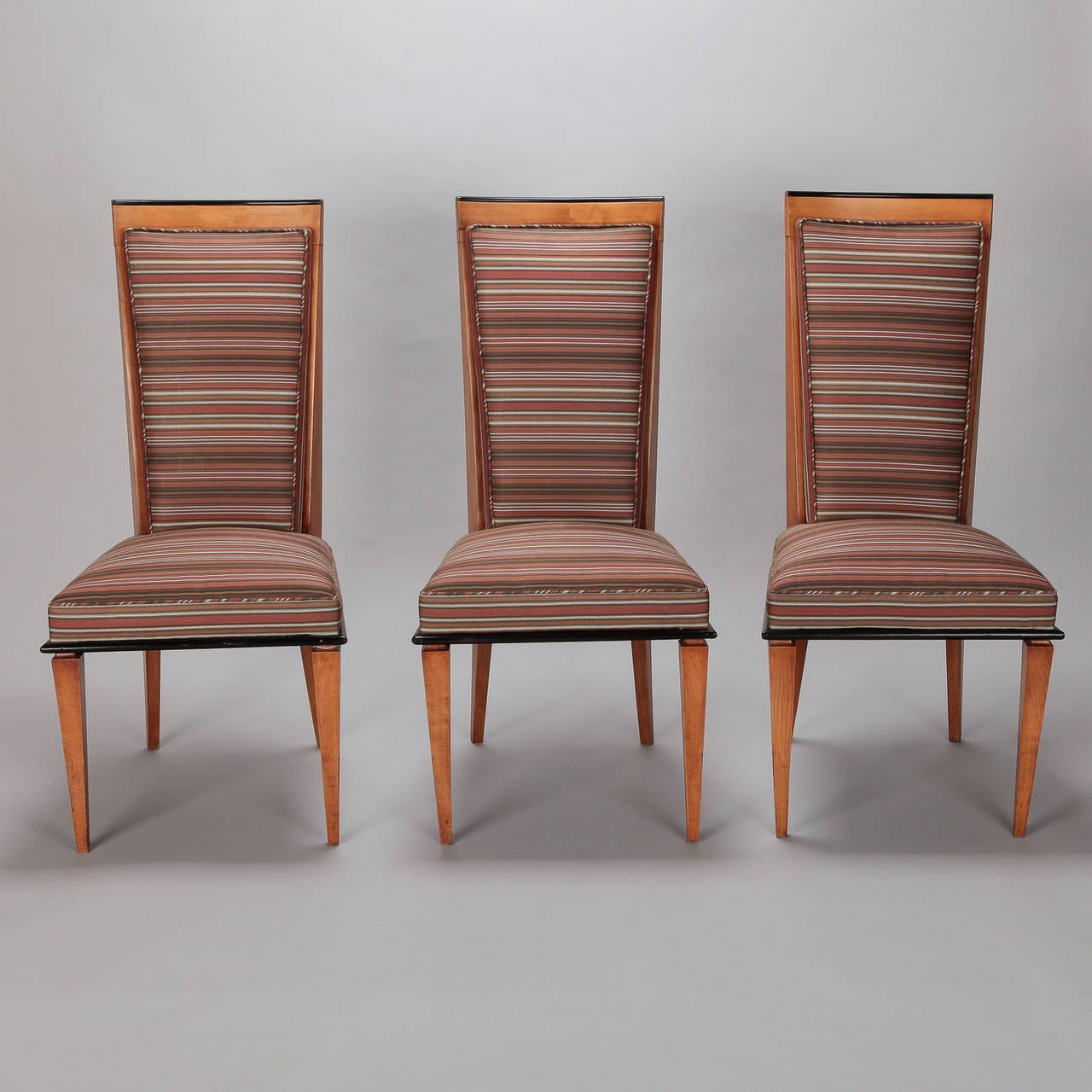 art deco kitchen chairs eames chair parts set of six beech wood dining at 1stdibs
