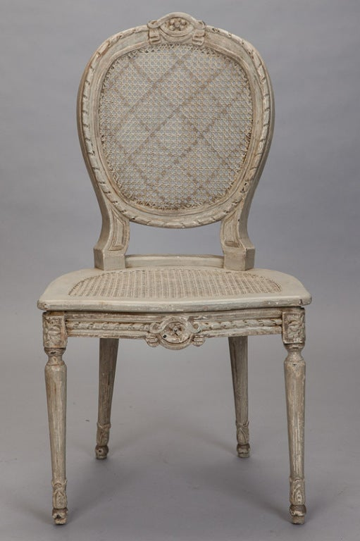 black cross back dining chairs aluminum sling white six french painted and caned oval at 1stdibs