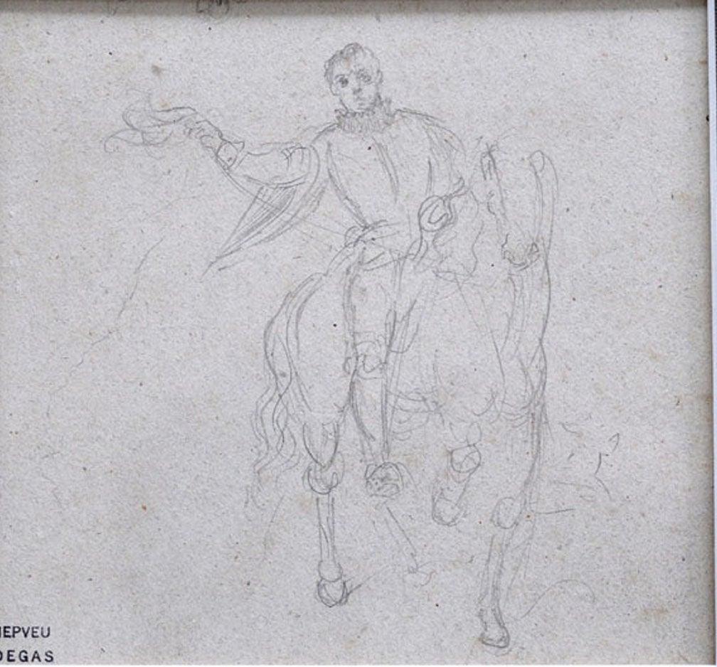 Original Degas drawing at 1stdibs