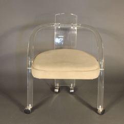 Lucite Acrylic Chairs Osaki Massage Set Of Four Charles Hollis Jones Style Dining