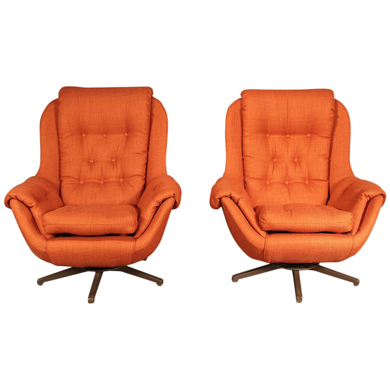 swivel chairs for sale portable tripod folding pair of lounge at 1stdibs