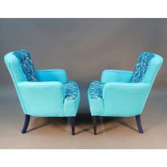 Turquoise Lounge Chair Bar Covers Pair Of Sala Chairs Draper Era For Sale At 1stdibs
