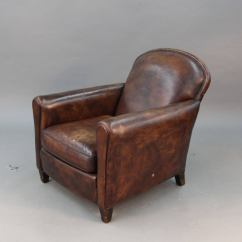 Art Deco Style Club Chairs Broyhill Accent Pair Of Leather At 1stdibs