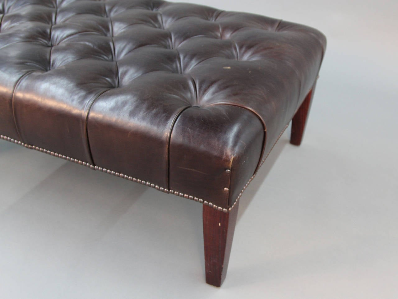 leather tufted chair and ottoman nursery recliner australia george smith at 1stdibs