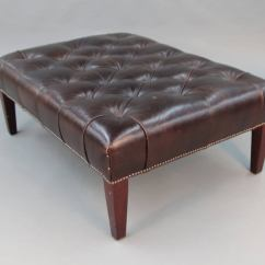 Leather Tufted Chair And Ottoman Purple Bean Bag George Smith At 1stdibs