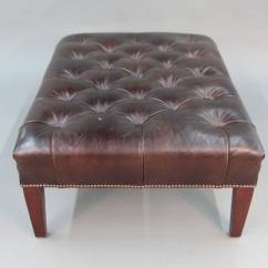 Leather Tufted Chair And Ottoman Diy Rocking Cushion Cover George Smith At 1stdibs