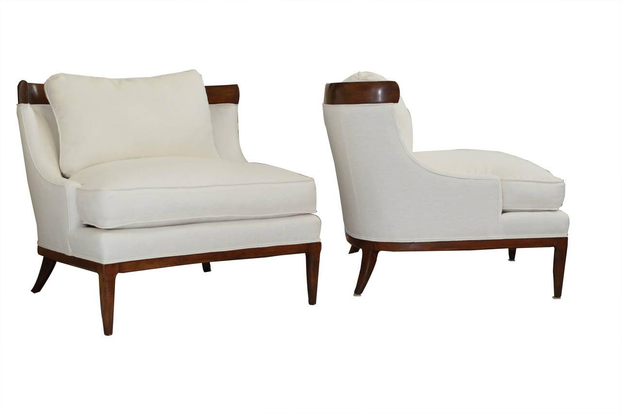 white linen chair kohls rocking cushion set erwin lambeth chairs at 1stdibs