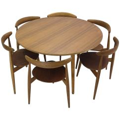 Chair And Matching Stool Kohls Covers Hans Wegner Round Dining Table Heart Shaped