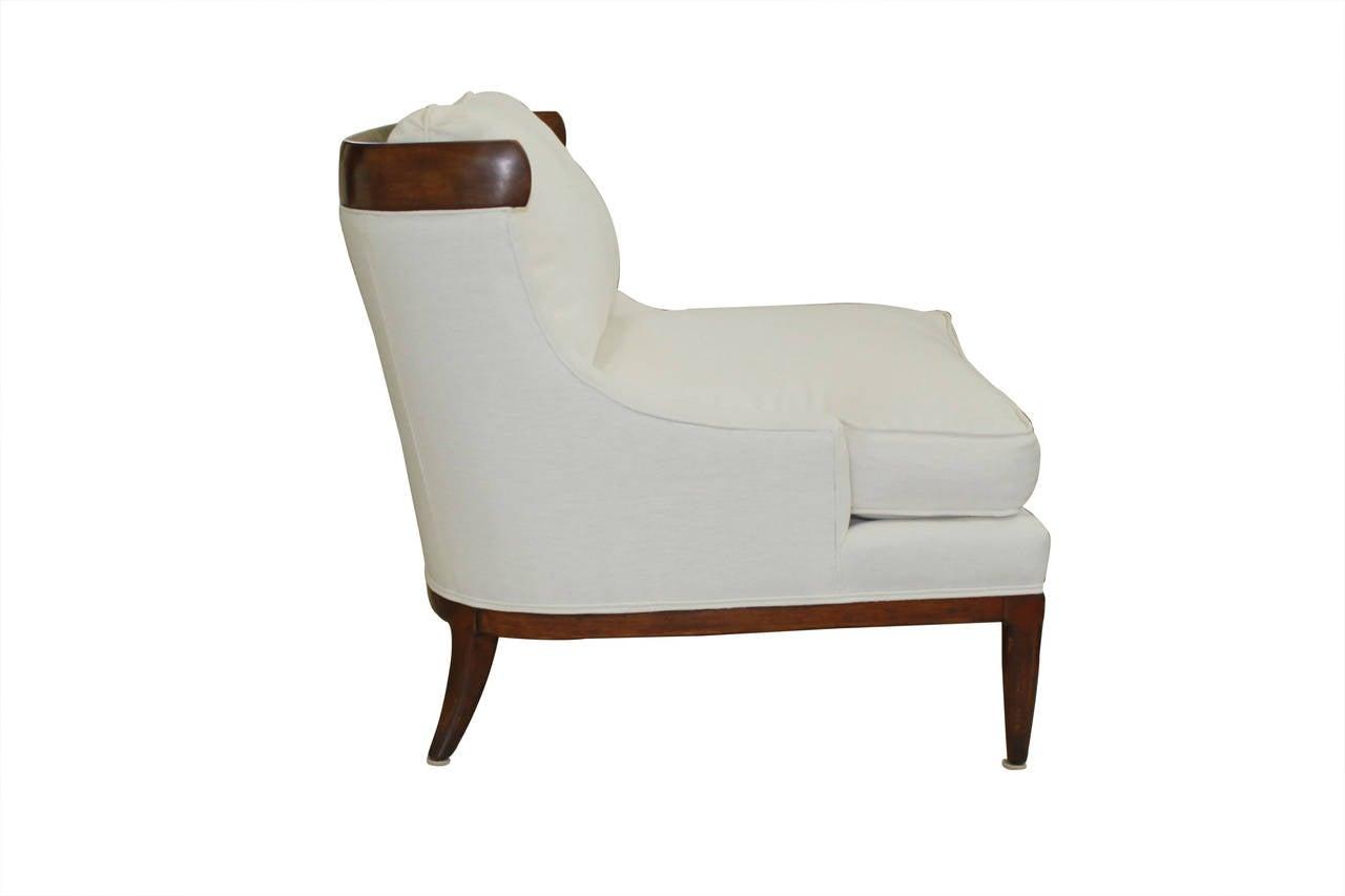 white linen chair lobby chairs waiting room erwin lambeth at 1stdibs