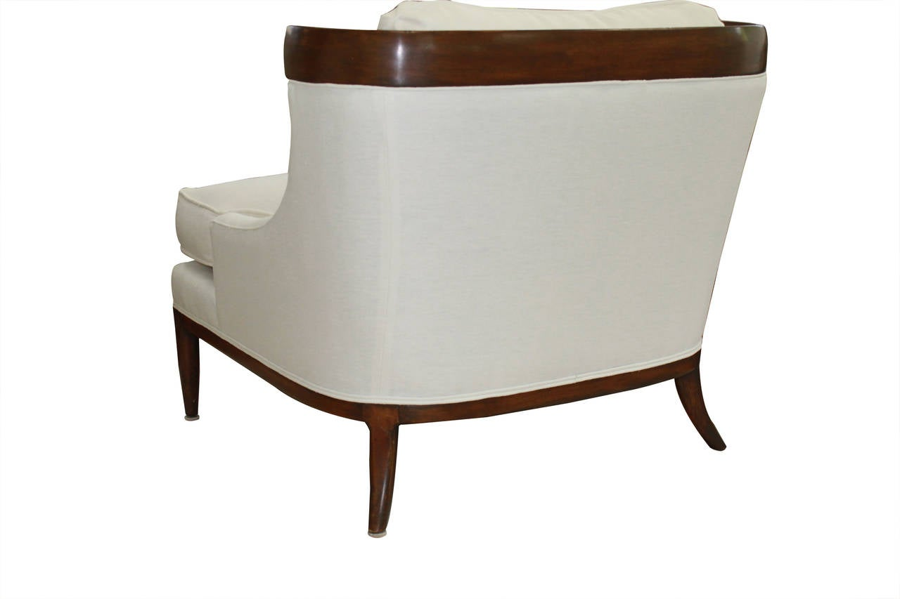 white linen chair office chairs for bad backs reviews erwin lambeth at 1stdibs