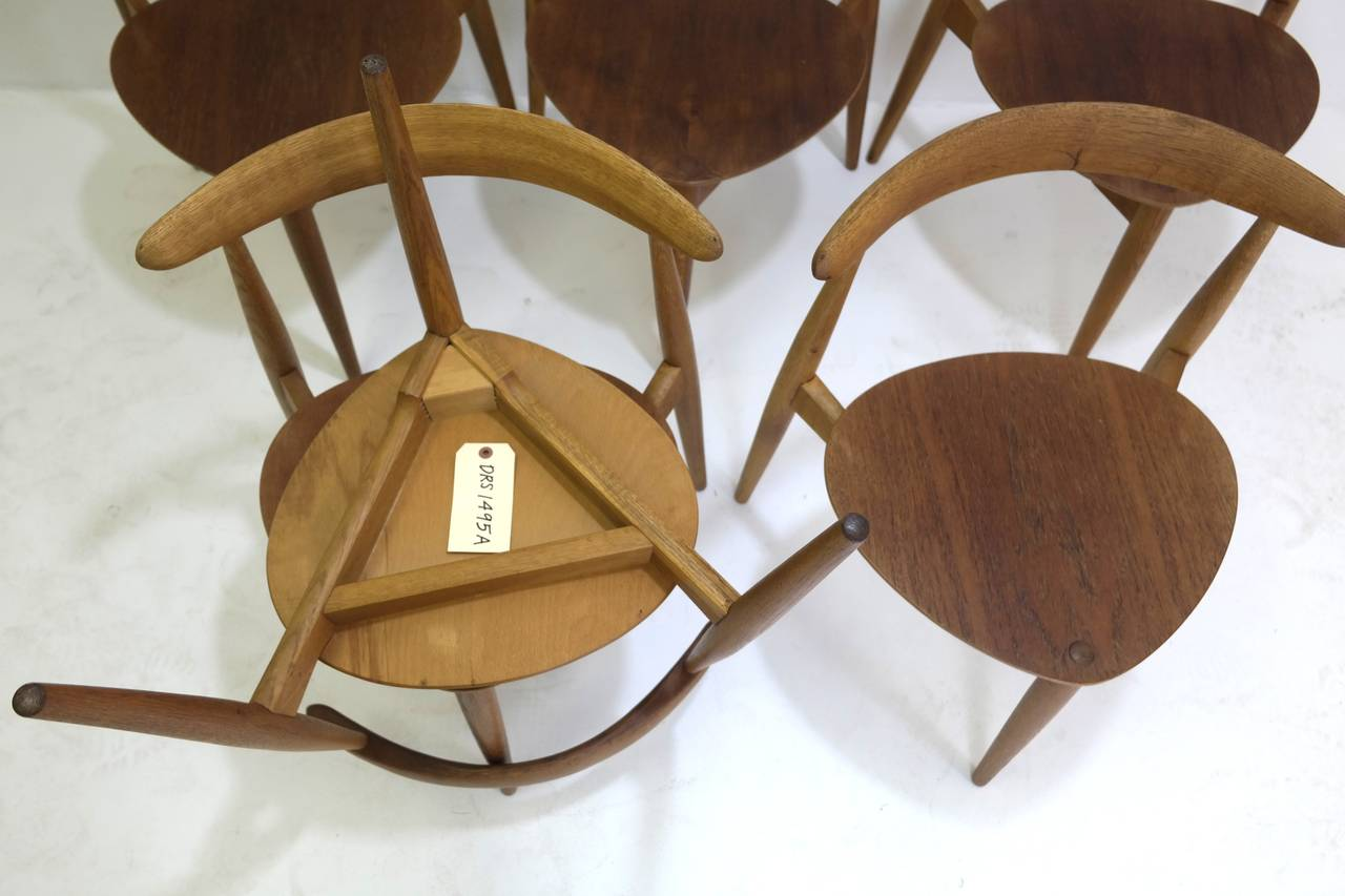 Heart Chair Hans Wegner Round Dining Table And Matching Heart Shaped