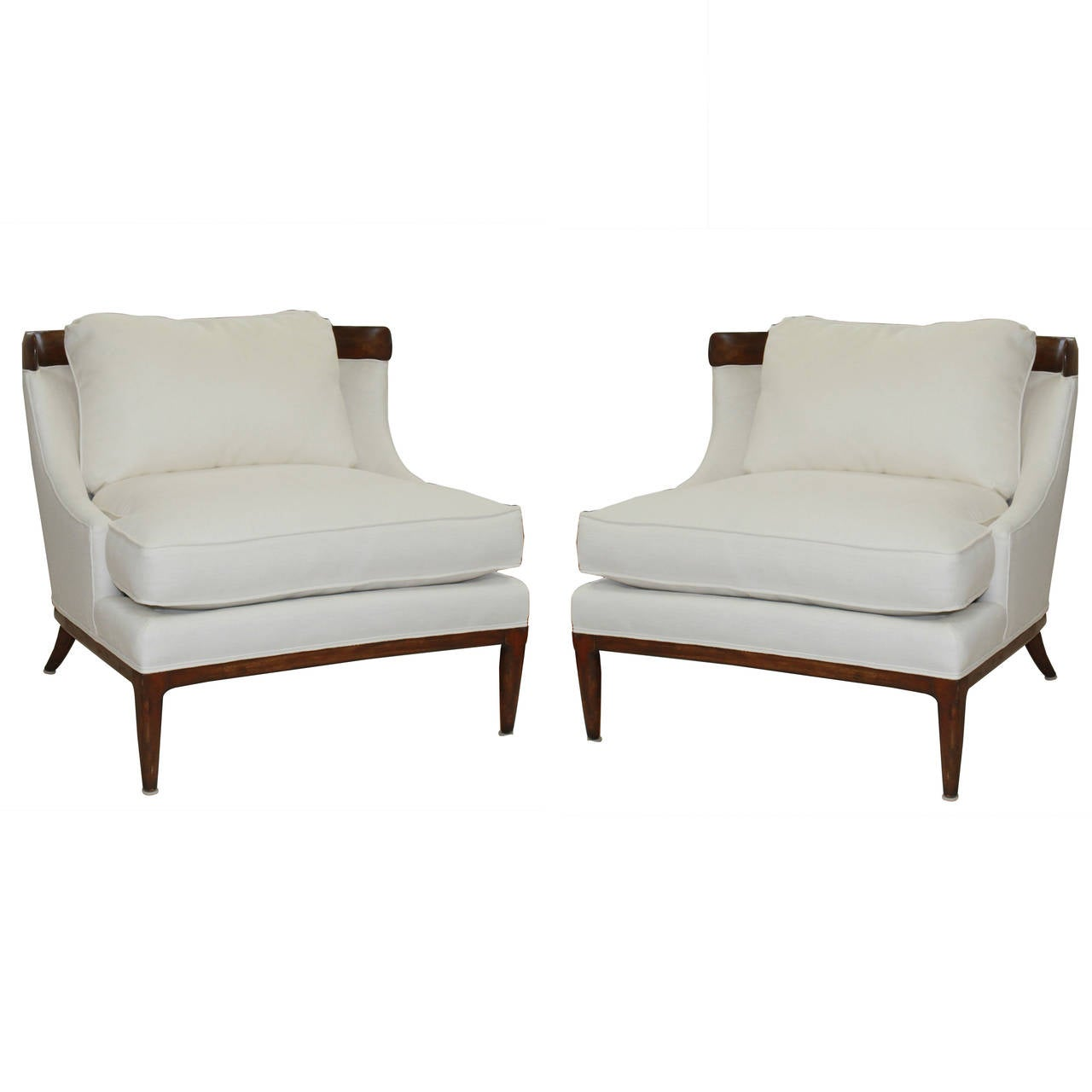 white linen chair eames dining replica erwin lambeth chairs at 1stdibs
