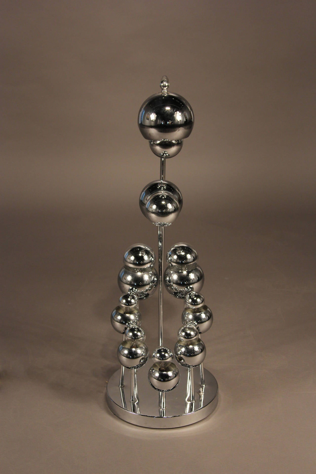 Space Age Chrome Eyeball Lamp in the Style of Robert