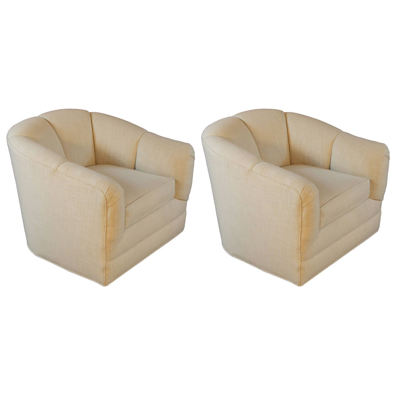 swivel tub chairs slipper on sale pair of 1970s at 1stdibs