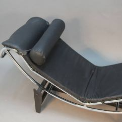 Corbusier Lounge Chair Gold Covers Amazon Le Lc4 Chrome And Leather At 1stdibs