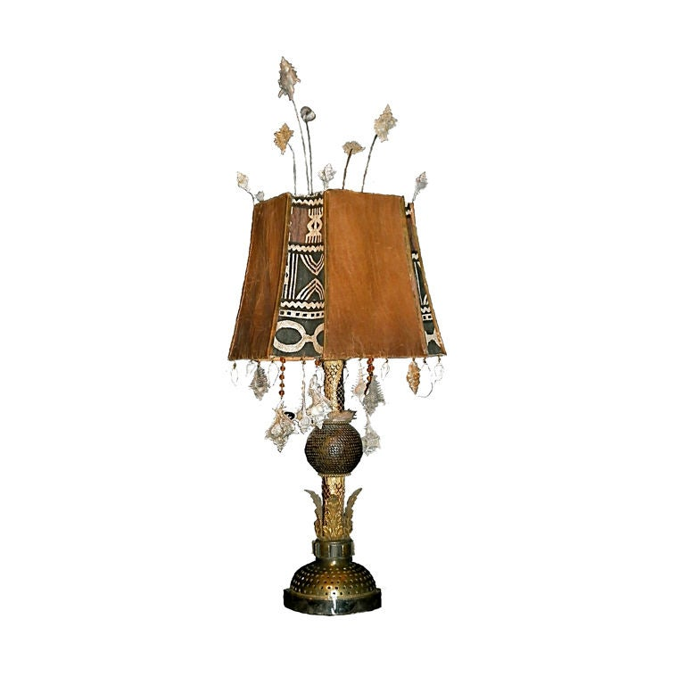 Superb and exotic lamp at 1stdibs