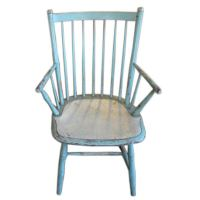 Blue Painted Windsor Chairs at 1stdibs