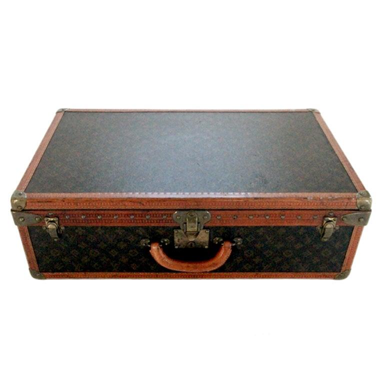Vintage Louis Vuitton Monogrammed Suit Case At 1stdibs