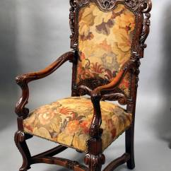 Wood High Chair For Sale Dinette Chairs With Casters Set Of Four 19th Century Large Hand Carved Back