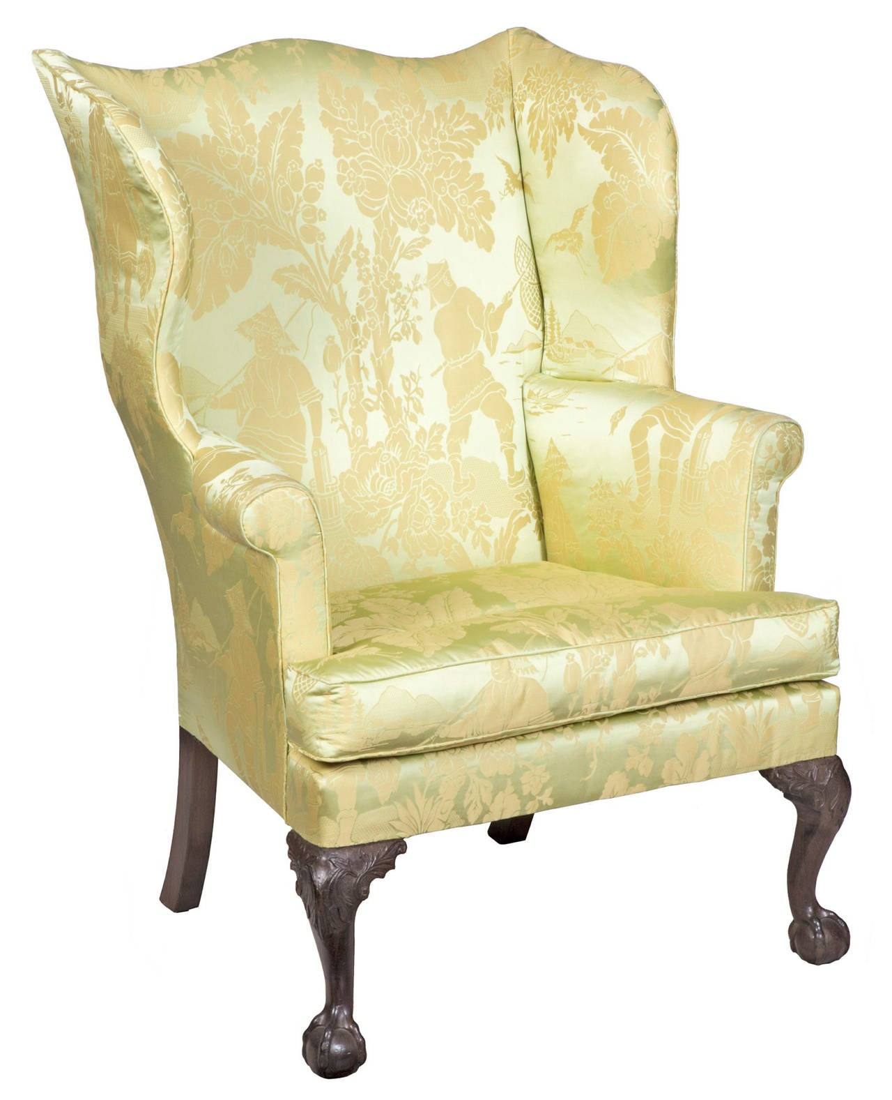 Chair Feet Chippendale Wing Chair On Carved Legs With Claw And Ball
