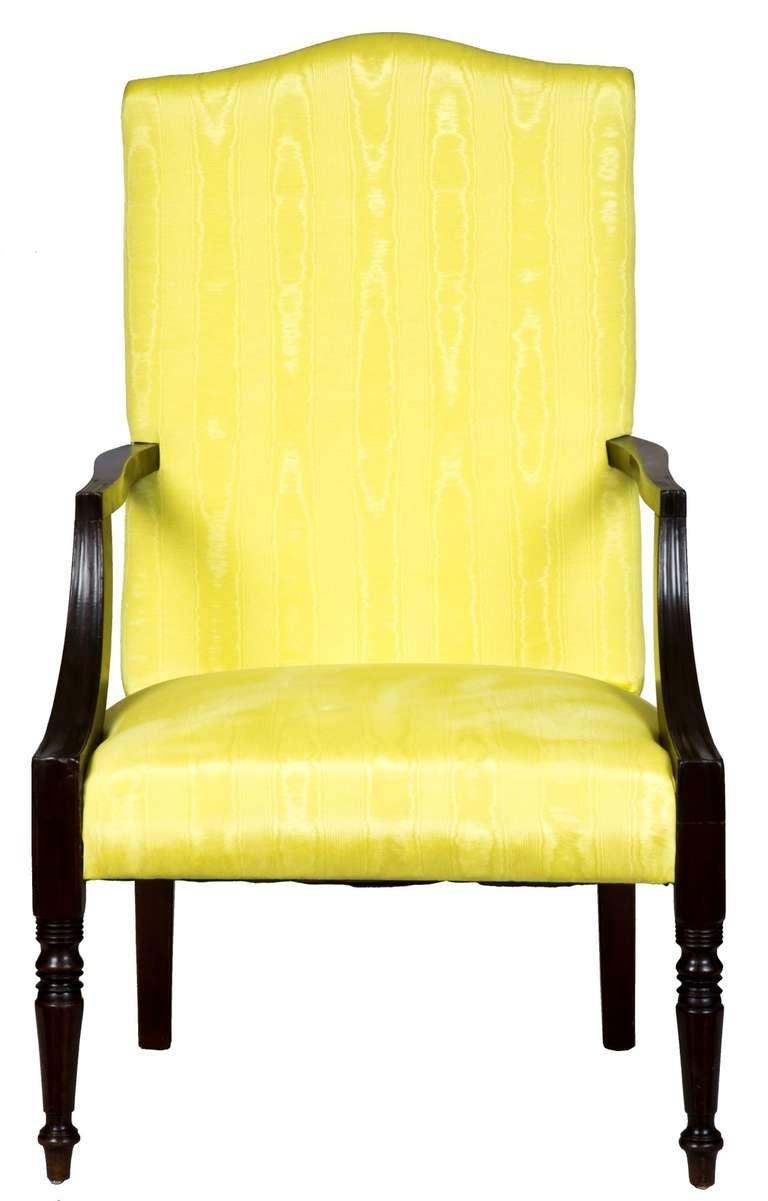 Mahogany Federal Hepplewhite Lolling Chair Massachusetts