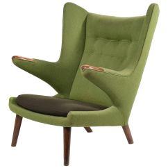 Papa Bear Chair High Back White Office Hans Wegner For Sale At 1stdibs