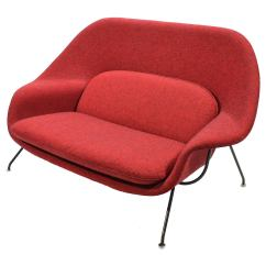 Dwr Womb Chair Upholstered Dining Chairs With Arms Uk Sofa Eero Saarinen Settee For Knoll At 1stdibs
