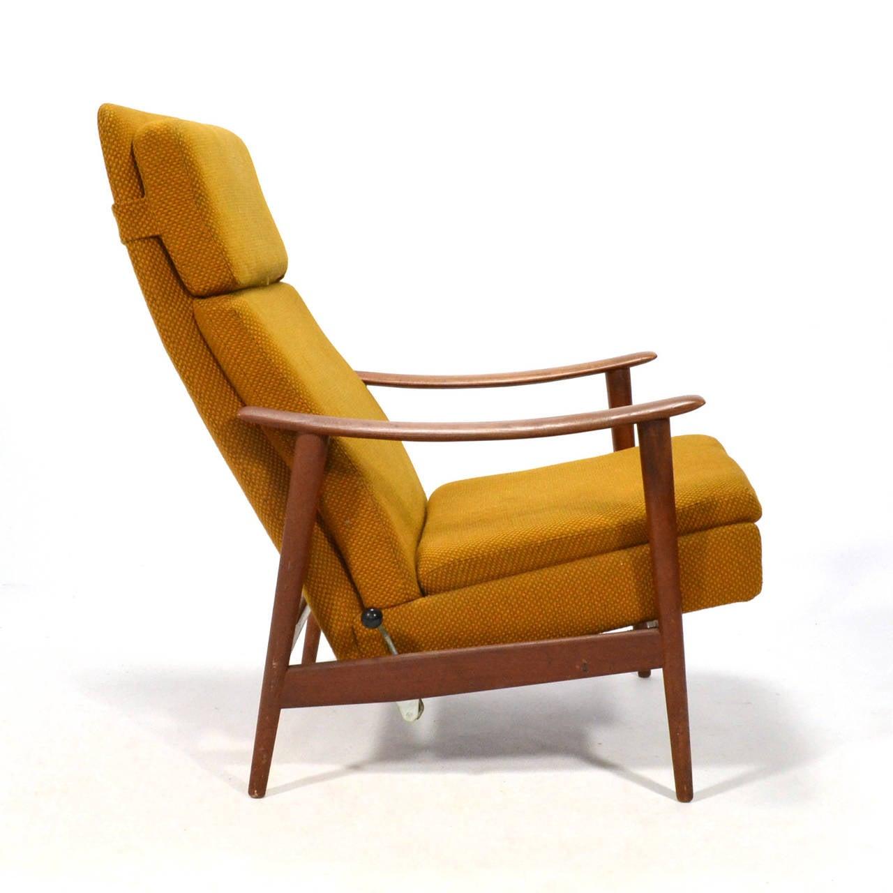 teak lounge chair golden technologies lift chairs danish reclining at 1stdibs