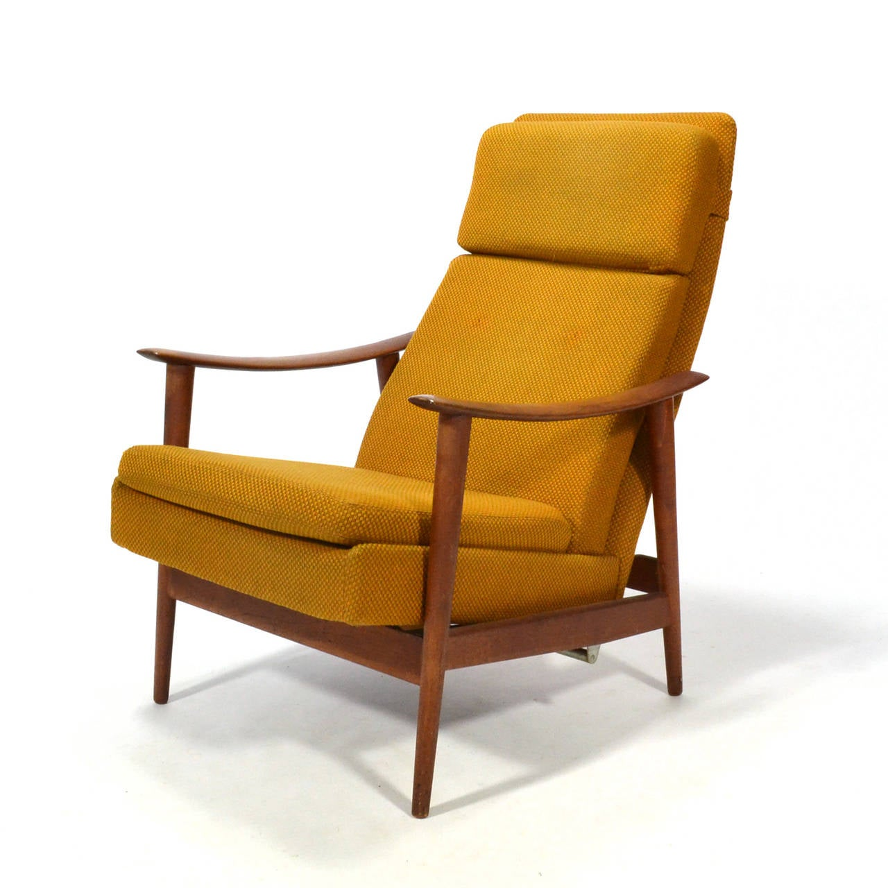 teak chaise lounge chairs sale chair storage cart danish reclining at 1stdibs