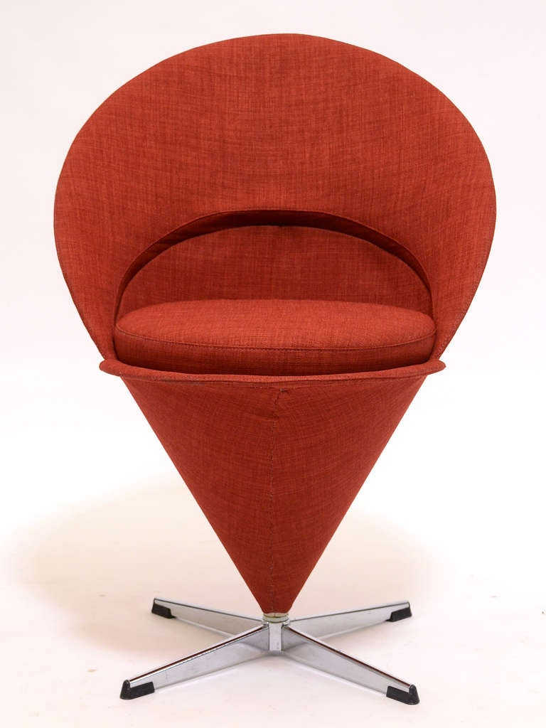 vernon panton chair eames lounge cushions verner wire cone for sale at 1stdibs by
