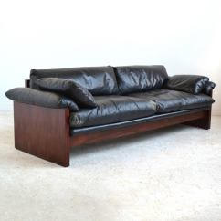 Down Filled Leather Sectional Sofa What To Put Behind A Corner Rosewood With Cushions At 1stdibs