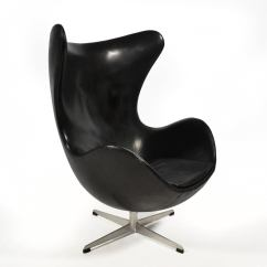 Jacobsen Egg Chair Leather Hickory Sofas Arne Early In Original Black