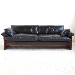 Down Filled Leather Sectional Sofa Galvanized Pipe Table Rosewood With Cushions At 1stdibs