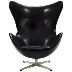 Egg Chairs For Sale Wood Lounge Chair Designs Arne Jacobsen Early In Original Black Leather