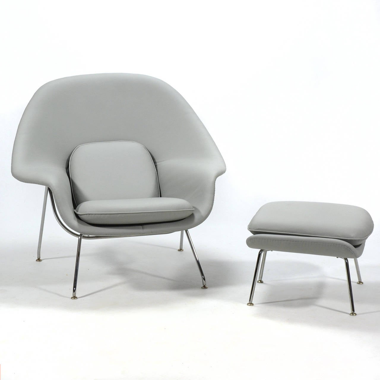 knoll saarinen chair hay about a replica eero womb and ottoman in leather by