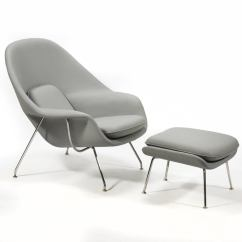 Knoll Saarinen Chair Ball For Office Benefits Eero Womb And Ottoman In Leather By