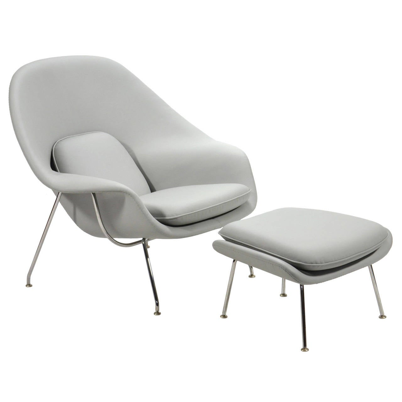 knoll saarinen chair upholstered kids chairs eero womb and ottoman in leather by