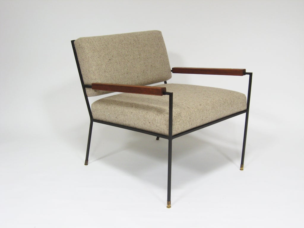 boondocks steel chair effect massage prices iron framed lounge by kasparian at 1stdibs