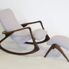 Rocking Chair And Ottoman Set Swivel Hunting Contour By Vladimir Kagan At 1stdibs