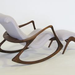 Vladimir Kagan Rocking Chair Ciao Baby High Weight Limit Contour And Ottoman By At 1stdibs American For Sale
