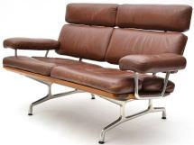 Eames Teak And Leather Sofa Herman Miller 1stdibs
