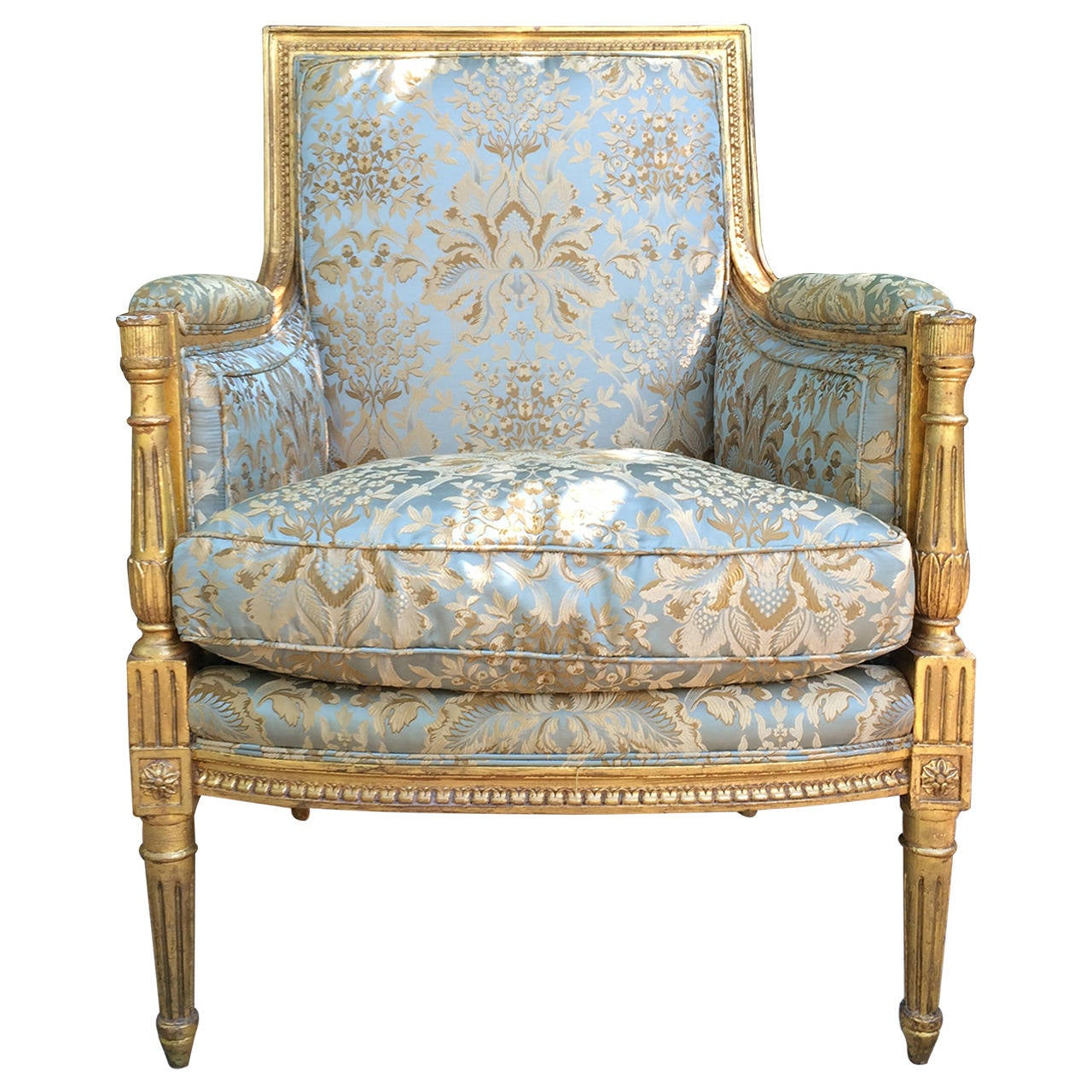 bergere chairs the chairman iron chef louis xvi style carved giltwood for sale at 1stdibs